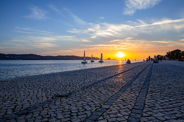Sunset on the Tagus, Lisbon