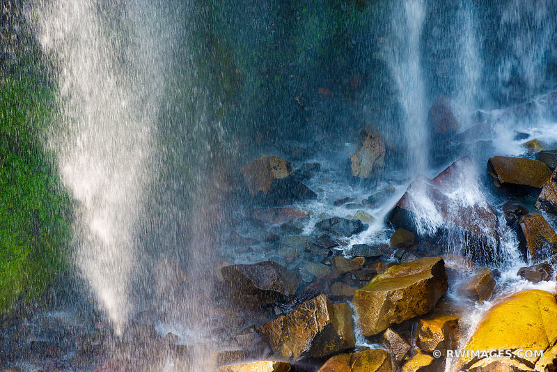 NARADA FALLS MOUNT RAINIER NATIONAL PARK WASHINGTON COLOR NATURE ABSTRACT WATER