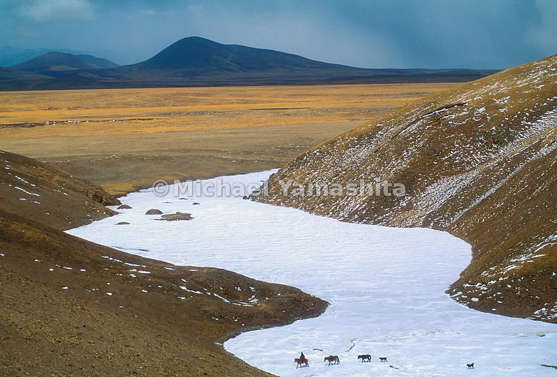 The place the Tibetans call the sacred source of the Mekong is a frozen river bed at an altitude of 17,000 feet on the Tibeta...