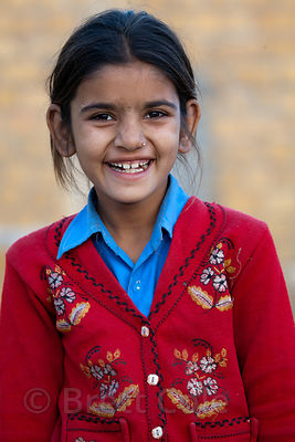 Girl in a small village outside Jaisalmer, Rajasthan, India
