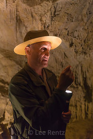 Interpreter Explaining Cave Features in Lehman Caves, Great Basin National Park