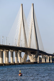 Bandra-Worli Sealink Bridge, Mumbai, India.