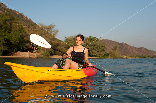 Kayaking on lake Malawi, Cape Maclear, Malawi