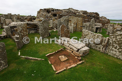 Village house with hearth, Broch of Gurness, West Mainland, Orkney, United Kingdom