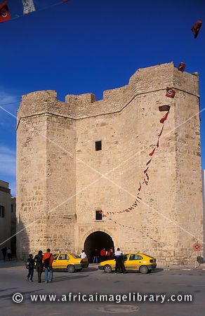 Entrance to the old medina, Hammamet, Tunisia