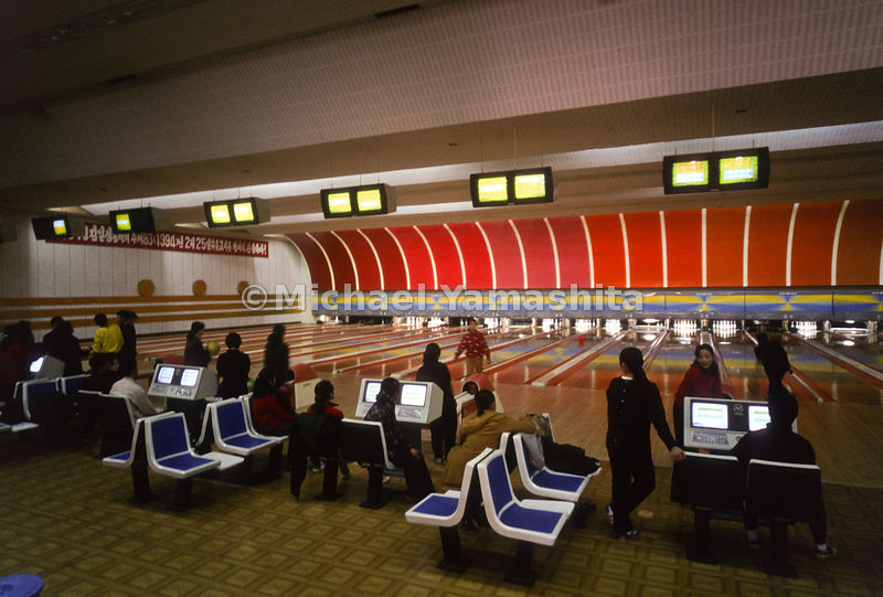 Gold Lanes Bowling Alley a Popular Past-Time, Pyongyang, North Korea