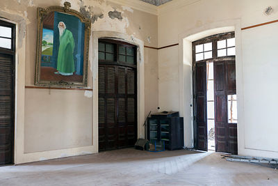India - Pondicherry - The derelict Hotel du Ville that has been saved by INTACH (Indian National Trust for Art and Cultural H...