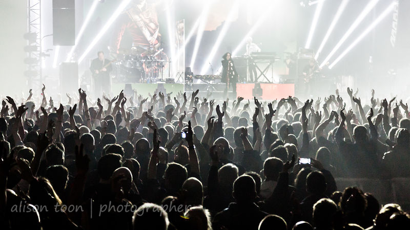 Audience watching Marillion, PZ, 2015
