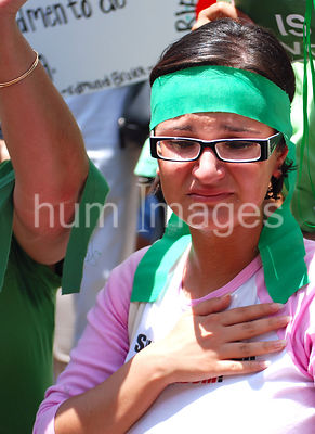 Dallas Stock Photos: Distraught woman protesting against the 2009 Iran election results
