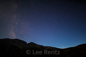Snake Range with Milky Way in Great Basin National Park