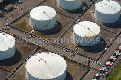 Aerial view of Fuel Depot, near Bristol, United Kingdom