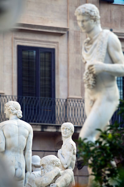 Italy - Palermo - Lewd statues on the Piazza Pretoria (known as the square of Shame)