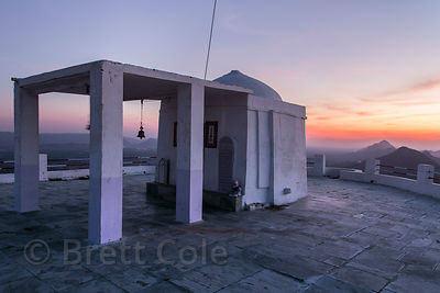 Sunrise from the Pachmantha Mataji temple, Majhewla Village, Rajasthan, India