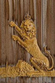 Door detail of entrance to the Queen's Gallery Edinburgh