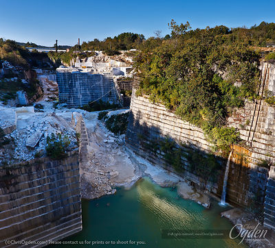 Cherokee, Pearl Grey and Solar Grey Marble | Georgia Marble Quarry | Polycor Inc. | Tate, Georgia, USA | Photo courtesy of Ch...
