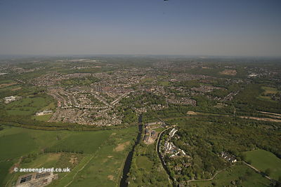 aerial photograph of Horsforth  Leeds Yorkshire England UK