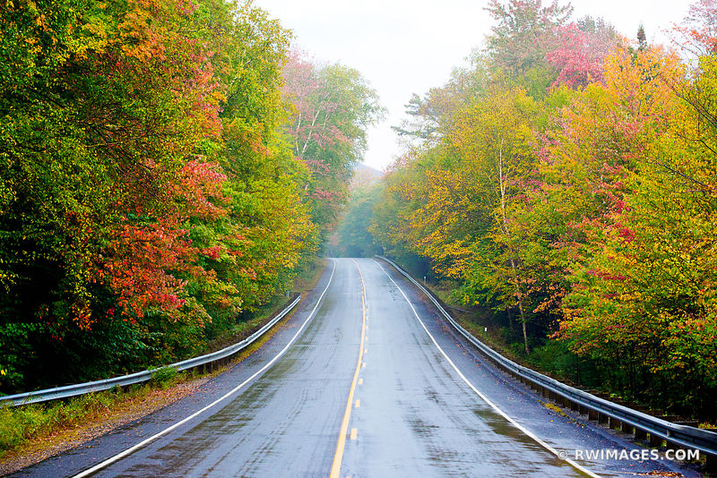 FALL COLORS AUTUMN FOLIAGE DRIVING KANCAMAGUS HIGHWAY WHITE MOUNTAINS NEW HAMPSHIRE ROUTE 112