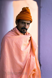Resident Nepalese swami, Bedhnath temple area, Rajasthan, India