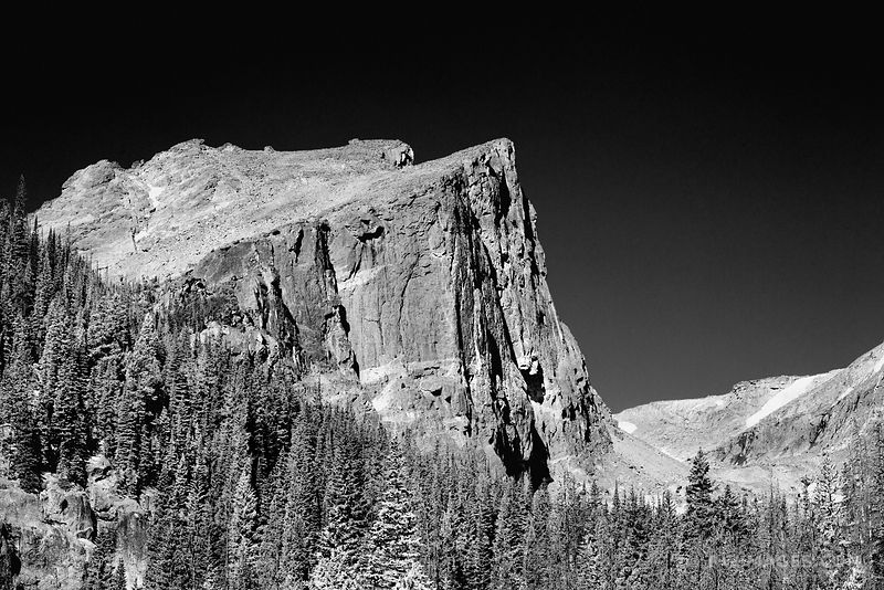 HALLET PEAK ROCKY MOUNTAIN NATIONAL PARK COLORADO BLACK AND WHITE