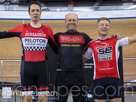 Master C/D Men 500m Time Trial Podium. Ontario Track Championships, March 4, 2018