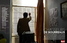 Paris Match Magazine, Chasseurs de Bourreaux, Islamic State (ISIS) crimes against humanity ©Alfred Yaghobzadeh