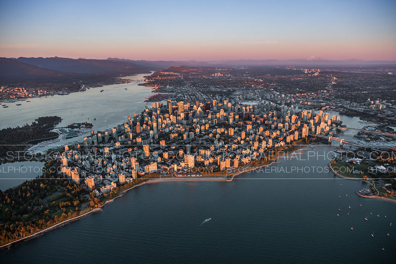 Downtown Vancouver at Sunset