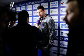 Arpad Sterbik during the Final Tournament - Final Four - SEHA - Gazprom league, Media meeting in Brest, Belarus, 08.04.2017, ...