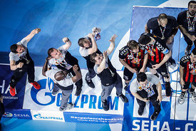 Team Vardar during the Final Tournament - Final Four - SEHA - Gazprom league, Gold Medal Match Vardar - Telekom Veszprém, Bel...