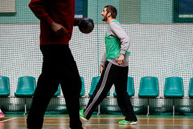 Mirko Alilovic during the Final Tournament - Final Four - SEHA - Gazprom league,Team training in Brest, Belarus, 08.04.2017, ...