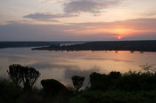 Sunrise over Kazinga Channel, Queen Elizabeth National Park, Uganda