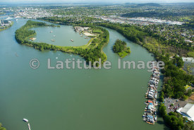 Ross Island and Willamette River; Portland, Oregon
