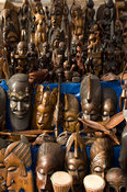 Crafts, at the artisanal market, Ziguinchor, Casamance, Senegal
