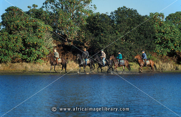 horse riding, Lake Kaulime, Nyika National Park, Malawi