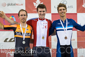 Men Individual Pursuit Podium. Canadian Track Championships, September 30, 2017