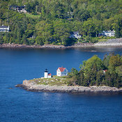Camden Harbor And Curtis Island Light, Maine (ME)