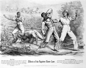 Effects of the Fugitive Slave Law cartoon