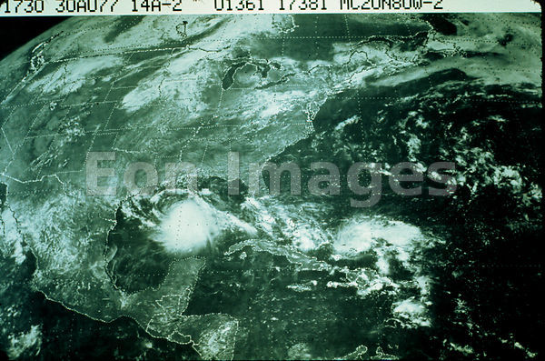 Satellite picture of Hurricane Anita, 1977
