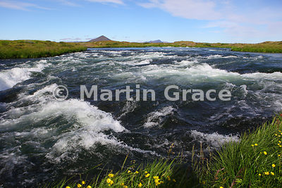 Laxa River near Lake Myvatn, Vatnajokull National Park, Iceland