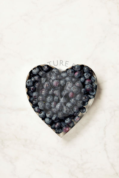 Heart shaped blueberries