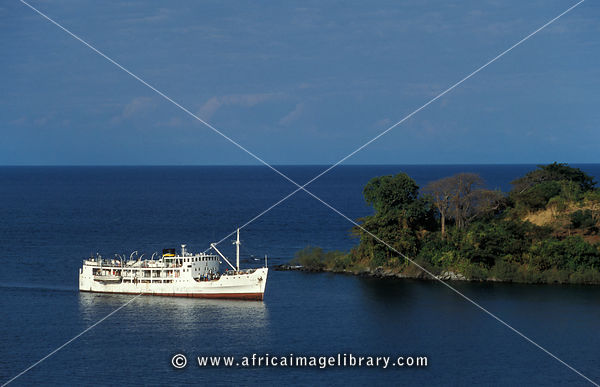the MV Ilala lake ferry, Nkhata Bay, Lake Malawi, Malawi