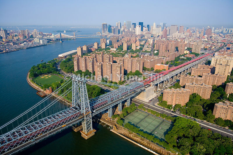 Once an area of factories, tenements and slaughterhouses, the East River Park now offers a riverside promenade alongside a ru...