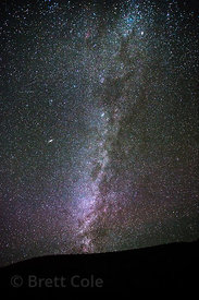The Milky Way and night sky from Leh, Ladakh, India