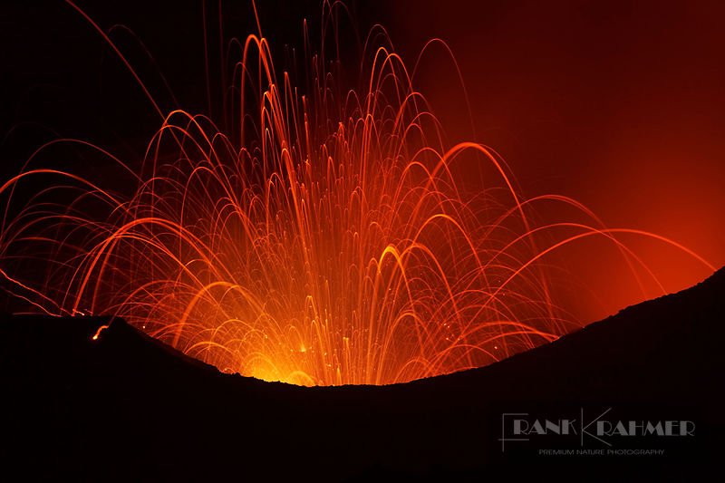 Strombolian volcano eruption at Yasur - Oceania, Vanuatu, Tanna, Yasur - digital