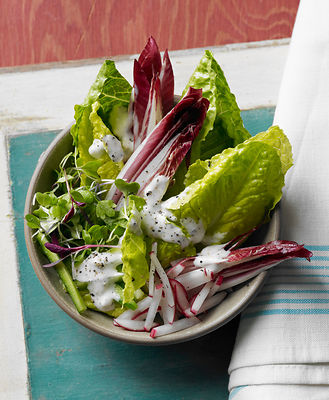 romaine and radicchio salad