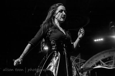 Ashley Costello, vocals, New Years Day, Sacramento
