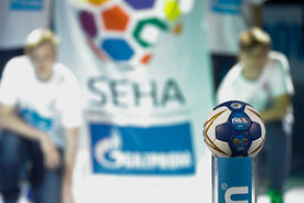 Ball during the Final Tournament - Final Four - SEHA - Gazprom league, Gold Medal Match Meshkov Brest - Telekom Veszprém, Bel...