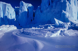 Milky-Blue Ice-Cliffs