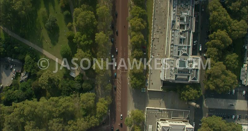 London Aerial Footage of The Mall