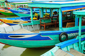 Boats on River in Hoi An