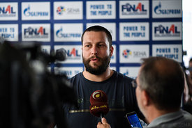Stojanche Stoilov of Vardar during the Final Tournament - Media Meeting - Final Four - SEHA - Gazprom league, Skopje, 14.04....